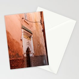 Colourful street in Marrakech | Moroccan fine art print Stationery Cards
