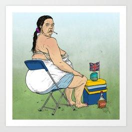 British Summer Fat Arse Art Print