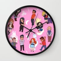 teen wolf Wall Clocks featuring Teen Wolf! by Madeoftin