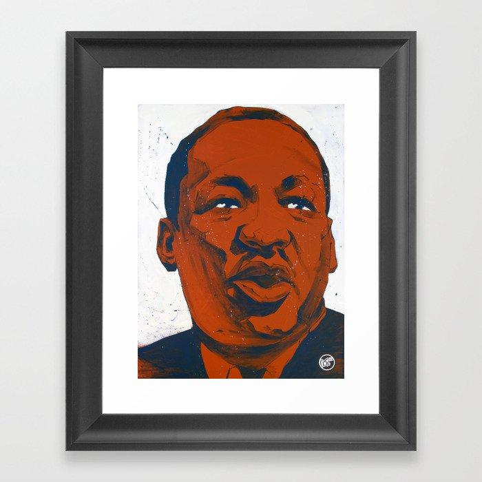Dr. King Framed Art Print
