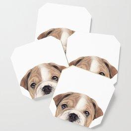 Bulldog Original painting Dog illustration original painting print Coaster