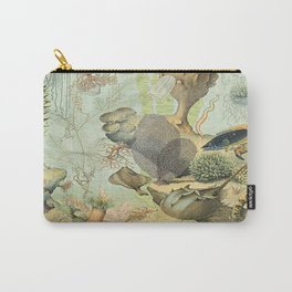SEA CREATURES COLLAGE, OCEAN ILLUSTRATION Carry-All Pouch