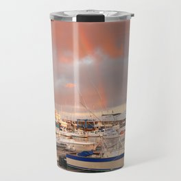 Marina in the Azores Travel Mug