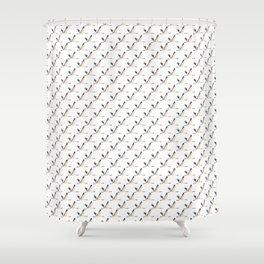 ElegantManchurian-pink Shower Curtain