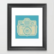 I Still Shoot Film Holga Logo - Turquoise/Tan Framed Art Print