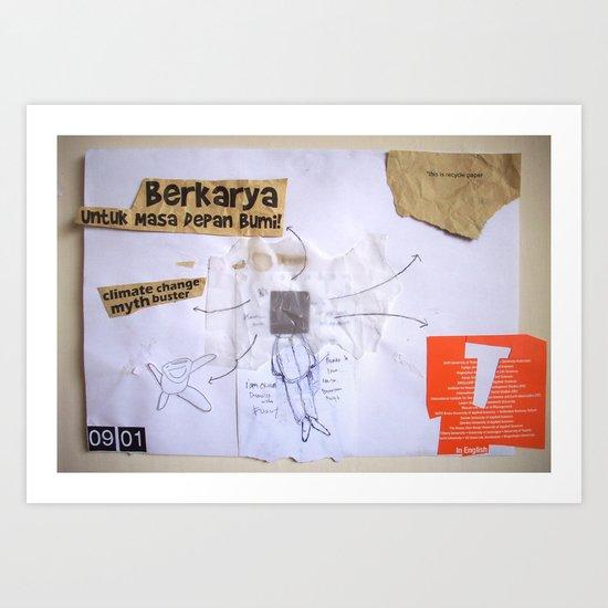 Draw your days : day#4 Berkarya Untuk Masa Depan Bumi Art Print