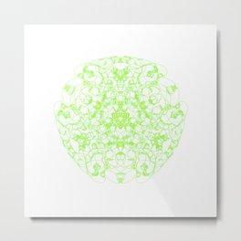 Mandala Trinity green Emerald Peridot Metal Print