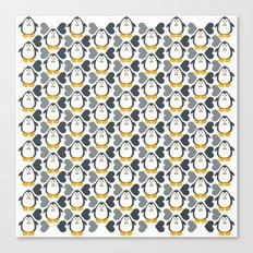 NGWINI - penguin love pattern 4 Canvas Print