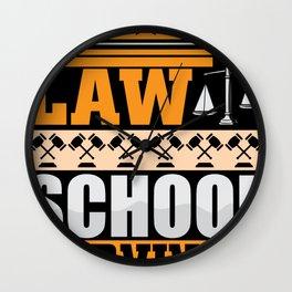 Law school survivor Lawyer shirt Wall Clock