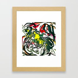 Abstract Colorful Ink Framed Art Print