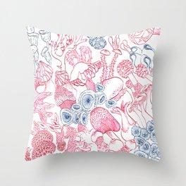 Mycology 3 Throw Pillow