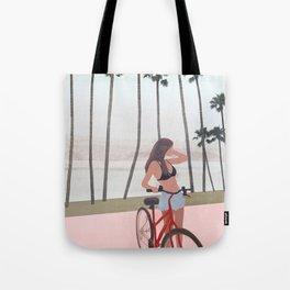 Seaside Biking Tote Bag