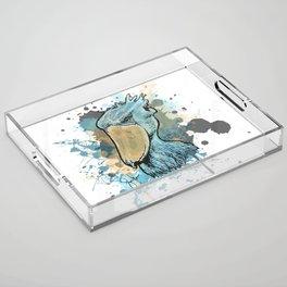 Shoebill Stork Acrylic Tray