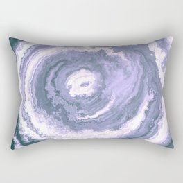 Slate Blue Agate Rectangular Pillow