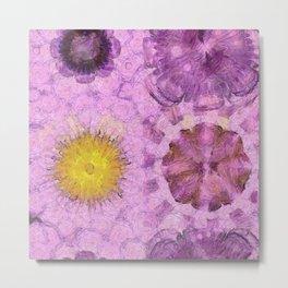 Zirkite Content Flower  ID:16165-022132-66350 Metal Print