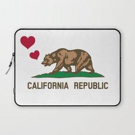 California Republic Bear with Hearts Laptop Sleeve