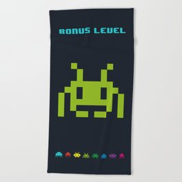 Space Invader VI Beach Towel