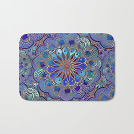Mandala with Silk Effect Bath Mat