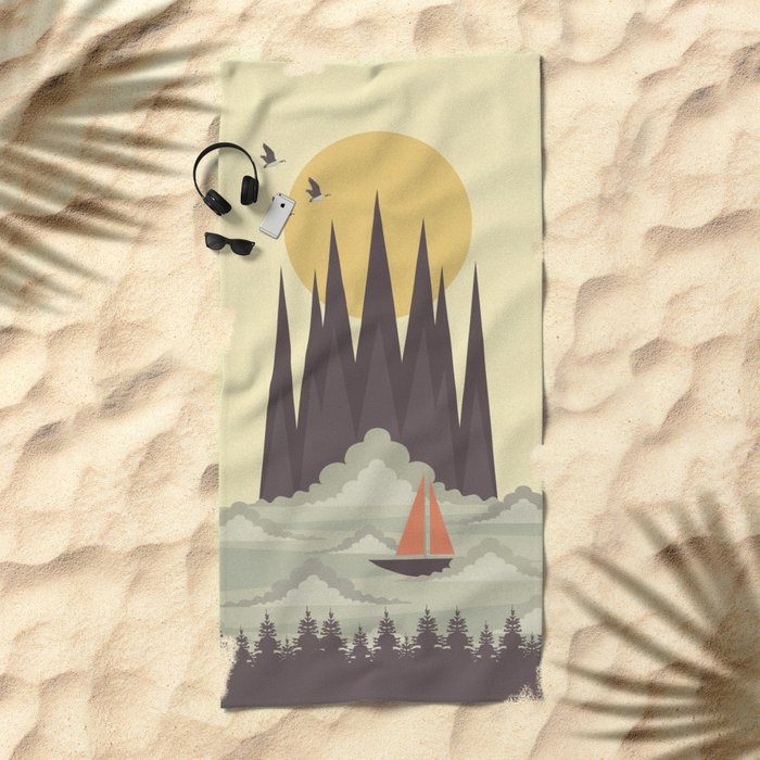 Over the Clouds Beach Towel