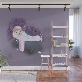 Bubble Bath Joy Wall Mural