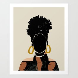 Black Hair No. 14 Art Print
