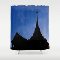 thailand Shower Curtains featuring THAILAND by habish