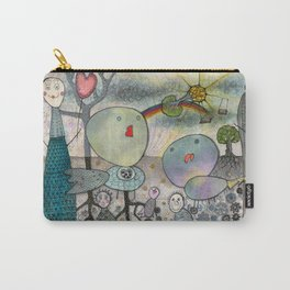 """Birds"" illustration Carry-All Pouch"
