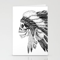 american Stationery Cards featuring Native American by Motohiro NEZU