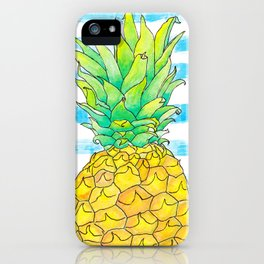 Pineapple Stripes iPhone Case