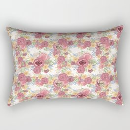 Bouquets of Burgundy and Yellow Flowers Rectangular Pillow