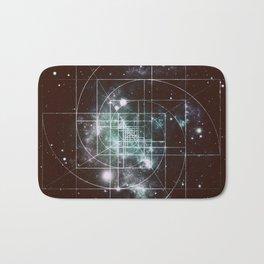 Galaxy Sacred Geometry: Golden Mean dark Bath Mat