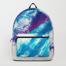 Cerulean Blue and Purple 90s Brush Abstract Backpack