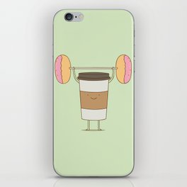 strong coffee workout iPhone Skin