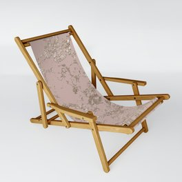 Blush Pink Marble Sling Chair