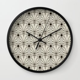 Retro art deco pattern ornament. Wall Clock