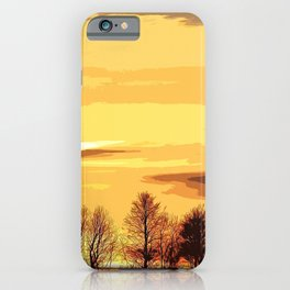 sunset lanscape iPhone Case