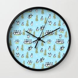 Penguin delight Wall Clock
