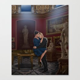 comfort before confession Canvas Print