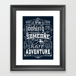 Help wanted Framed Art Print