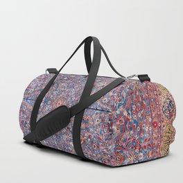Kashan Central Persian Rug Print Duffle Bag
