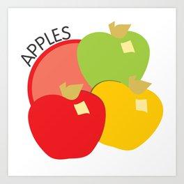 Apples Illustration Art Print