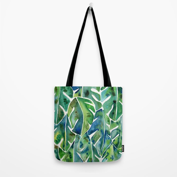 Split Leaf Philodendron – Green Tote Bag