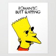 Romantic Butt Slapping Art Print