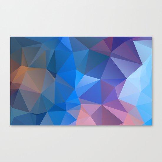 Colored polygon pattern.Amethyst. Canvas Print