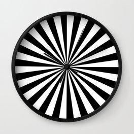 Black and White Starburst Pattern Wall Clock