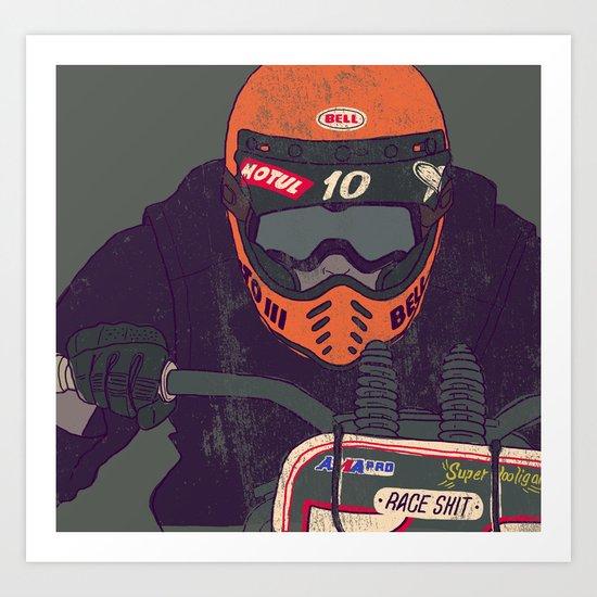 race shit Art Print