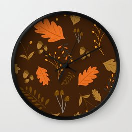 Autumn - Brown Wall Clock