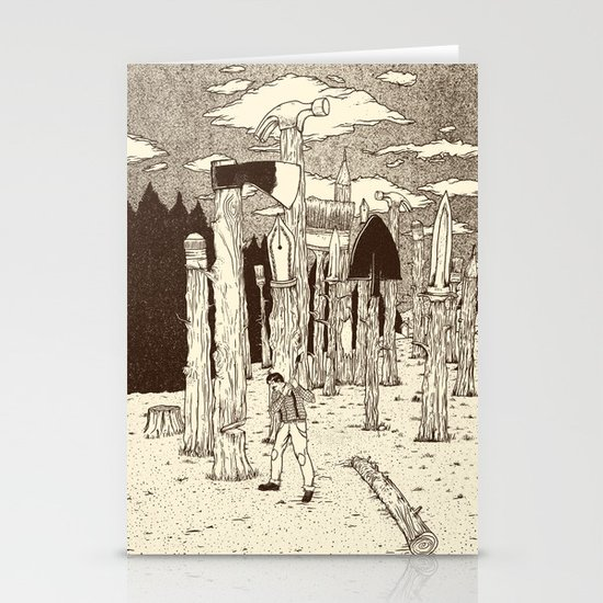 Woodcutter´s paradox Stationery Cards