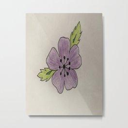 Een bloem voor myn bloem Metal Print