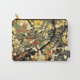 Jackson Pollock, digitally vectorised and filtered, fine art decor and clothing Carry-All Pouch